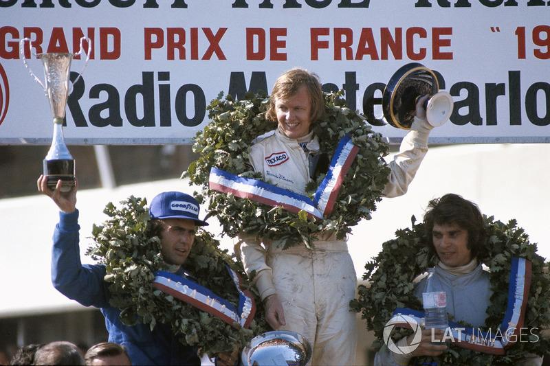 Ganador Ronnie Peterson, segundo lugar Francois Cevert, tercer lugar Carlos  Reutemann aba48a3dbb