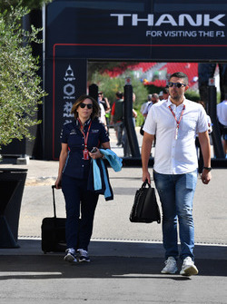 Claire Williams, Williams Deputy Team Principal with husband Marc Harris