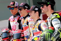 Takaaki Nakagami, Team LCR Honda, Marc Marquez, Repsol Honda Team, Dani Pedrosa, Repsol Honda Team, Cal Crutchlow, Team LCR Honda