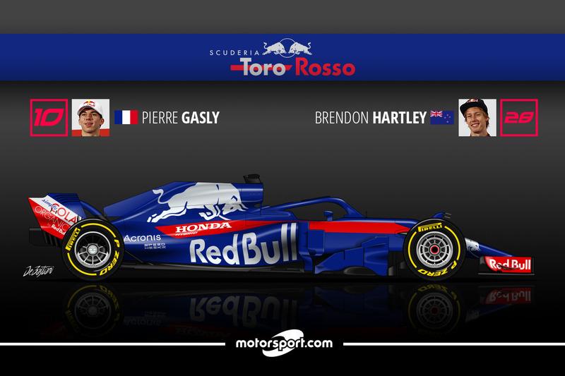 Pierre Gasly 13 Brendon Hartley 4