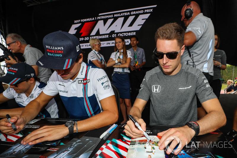 Lance Stroll, Williams y Stoffel Vandoorne, McLaren