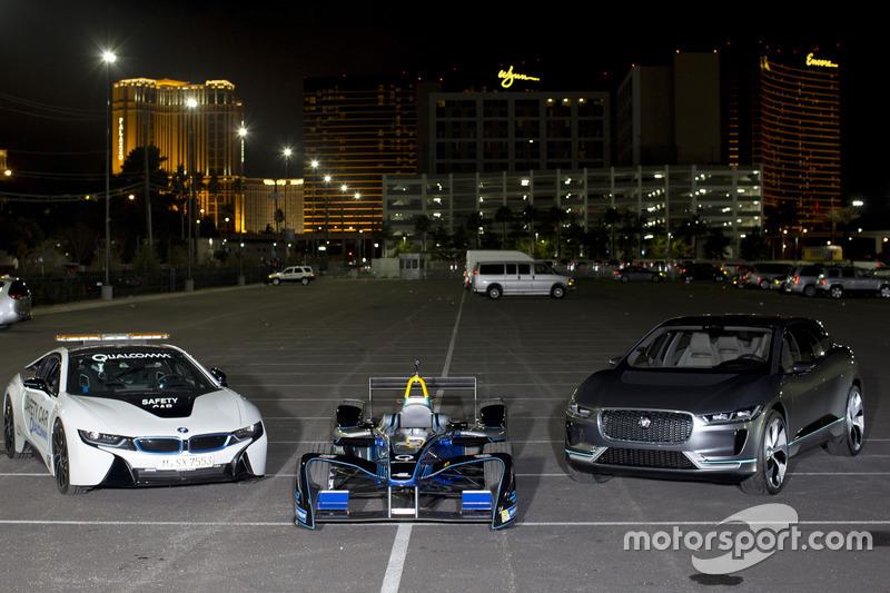 Das BMW i8 Safetycar, Spark DS Virgin und Jaguar I-Pace