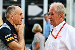 Franz Tost, Scuderia Toro Rosso Team Principal, Dr Helmut Marko, Red Bull Motorsport Consultant