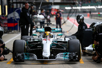 Lewis Hamilton, Mercedes AMG F1 s'arrête au stand