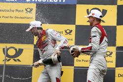 1. René Rast, Audi Sport Team Rosberg, Audi RS 5 DTM; 3. Nico Müller, Audi Sport Team Abt Sportsline, Audi RS 5 DTM