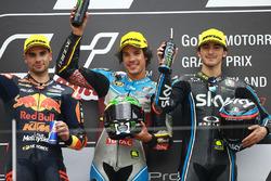 Подіум: переможець гонки Франко Морбіделлі, Marc VDS, друге місце Мігель Олівера, Red Bull KTM Ajo, третє місце Франческо Баньяя, Sky Racing Team VR46