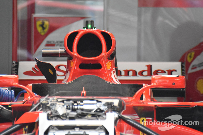 Detalle de la toma de aire de Ferrari