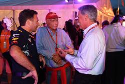 Christian Horner, Red Bull Racing Team Principal, Niki Lauda, Mercedes AMG F1 Non-Executive Chairman