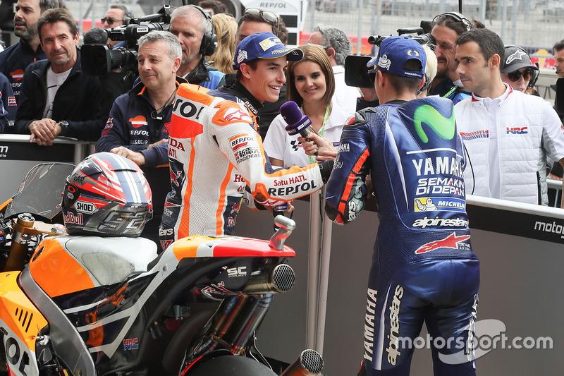 Polesitter Marc Marquez, Repsol Honda Team, Maverick Viñales, Yamaha Factory Racing