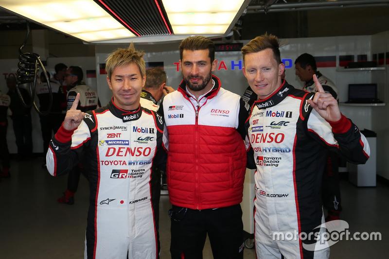 Pole position for #7 Toyota Gazoo Racing Toyota TS050 Hybrid: Kamui Kobayashi, Jose Maria Lopez, Mike Conway