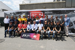 F1 driver group photo, Ross Brawn, Formula One Managing Director of Motorsports, Sean Bratches, Formula One Managing Director, Commercial Operations, Jean Todt, FIA President and Chase Carey, Chief Executive Officer and Executive Chairman of the Formula On