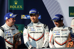 Podium: second place Neel Jani, Andre Lotterer, Nick Tandy, Porsche Team