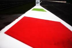 Boxeneinfahrt in Monza