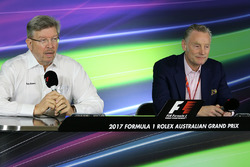 Ross Brawn, Liberty Media and Sean Bratches, Managing Director, Commercial Operations, Formula 1