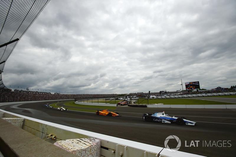 Max Chilton, Chip Ganassi Racing Honda, Fernando Alonso, Andretti Autosport Honda
