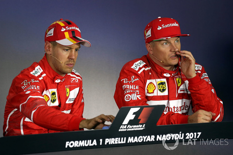Press conference: polesitter Sebastian Vettel, Ferrari, second place Kimi Raikkonen, Ferrari