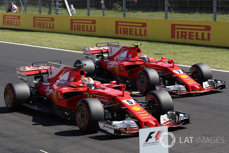 6. Sebastian Vettel, Ferrari - GP da Hungria 2017