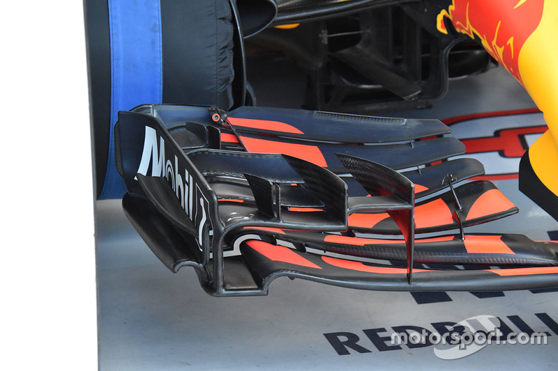 Red Bull Racing RB13 detalle de ala delantera