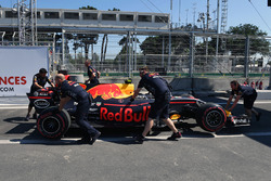 The car of Max Verstappen, Red Bull Racing RB13