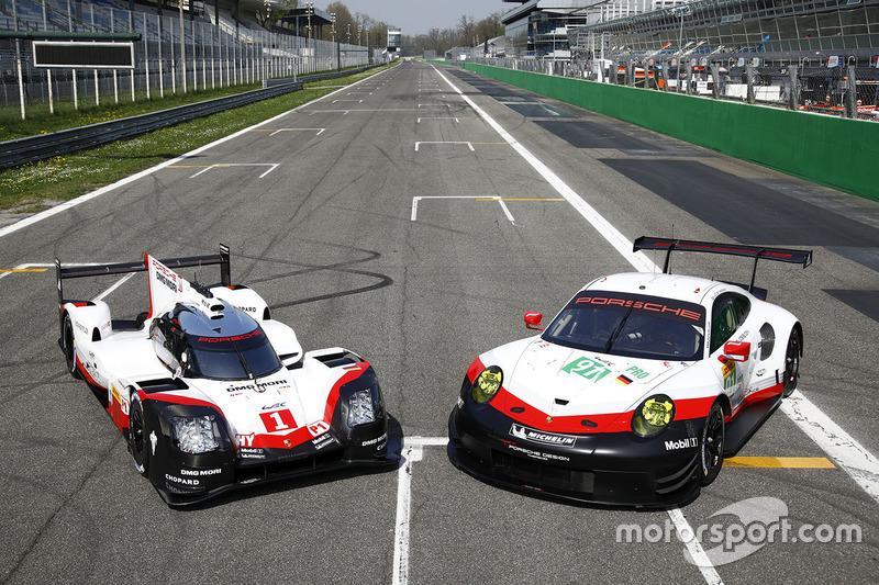 Porsche 919 Hybrid ud Porsche 911 RSR