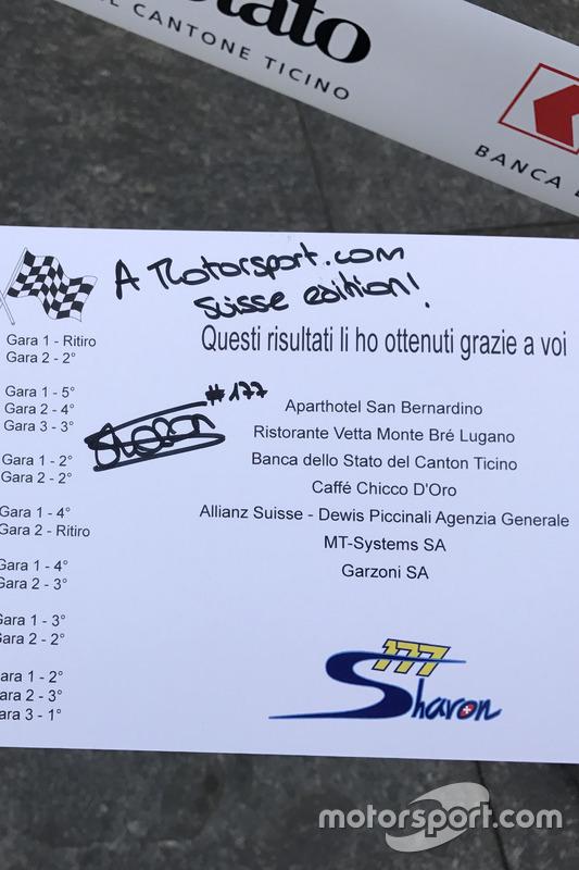 I saluti di Sharon Scolari a Motorsport.com