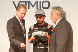Andy Green, Sergio Perez ve Vijay Mallya, Sahara Force India lansmanında