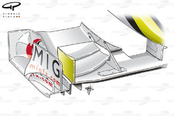 Brawn BGP 001 2009 Spa front wing