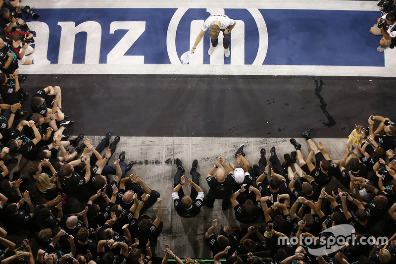 Nico Rosberg, Mercedes AMG F1 after finishing 2nd in the World Championship