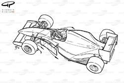 McLaren MP4-8 1993 aerodynamic flow