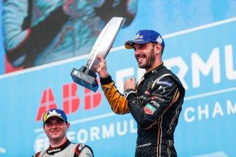 Jean-Eric Vergne, DS TECHEETAH, 1st position, celebrates on the podium