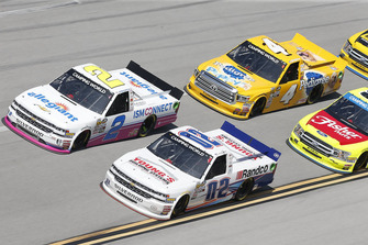 Austin Hill, Young's Motorsports, Chevrolet Silverado Young's Building Systems/Randco Spencer Gallagher, GMS Racing, Chevrolet Silverado Allegiant Todd Gilliland, Kyle Busch Motorsports, Toyota Tundra Pedigree Puppy
