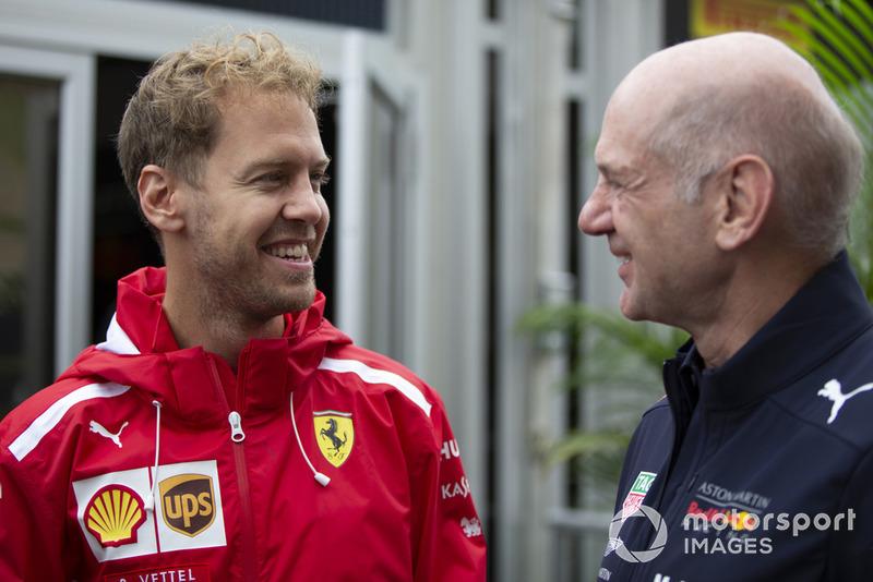 Себастьян Феттель, Ferrari, Едріан Ньюі, Red Bull Racing