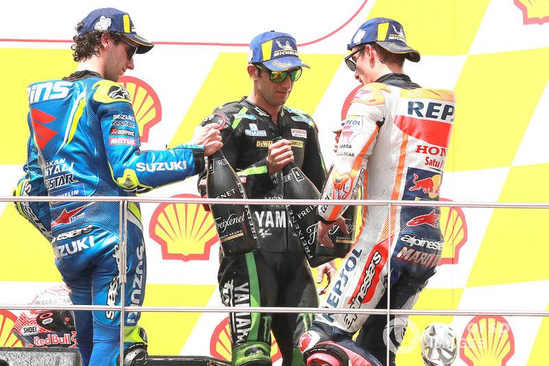 Ki-ka: Alex Rins, Team Suzuki MotoGP, Johann Zarco, Monster Yamaha Tech 3, Marc Marquez, Repsol Honda Team,