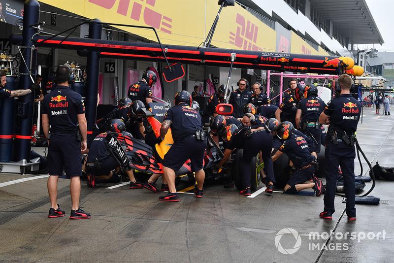 Latihan pit stop Red Bull Racing