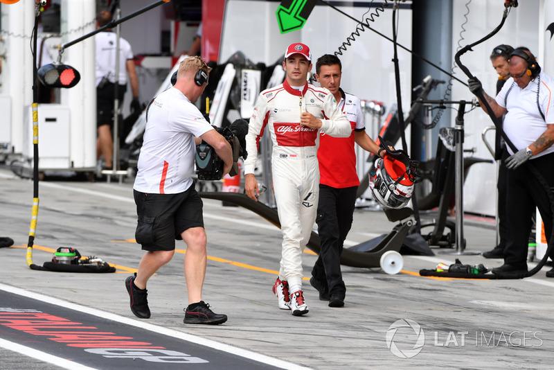 Charles Leclerc, Sauber marche après la Q1