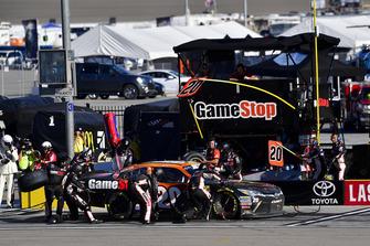 Christopher Bell, Joe Gibbs Racing, Toyota Camry GameStop Tomb Raider makes a pit stop, Sunoco