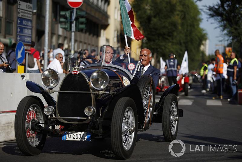 Angelo Sticchi Damiani,Presidente ACi su una Bugatti storica