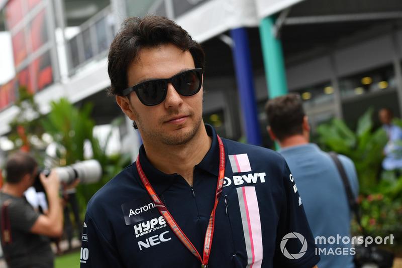 """Sergio Pérez: """"Foi difícil. Estava na curva três e quando eu acelerei senti um toque na minha roda da frente, nem sabia que era Esteban, apenas senti um toque e segui meu caminho, eu não vi absolutamente nada."""""""