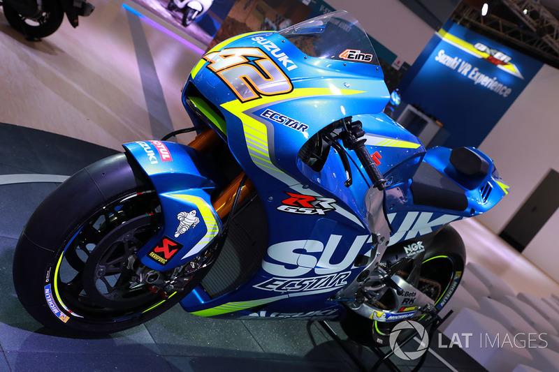 Bike of Alex Rins, Team Suzuki MotoGP, detail