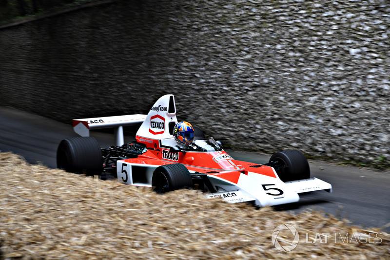La McLaren M23 pilotée par Lando Norris