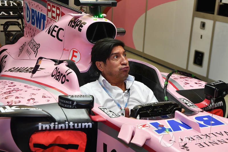 Ivan Zamorano, Football Player in the Sahara Force India VJM10