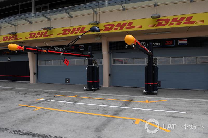 Red Bull Racing pit box
