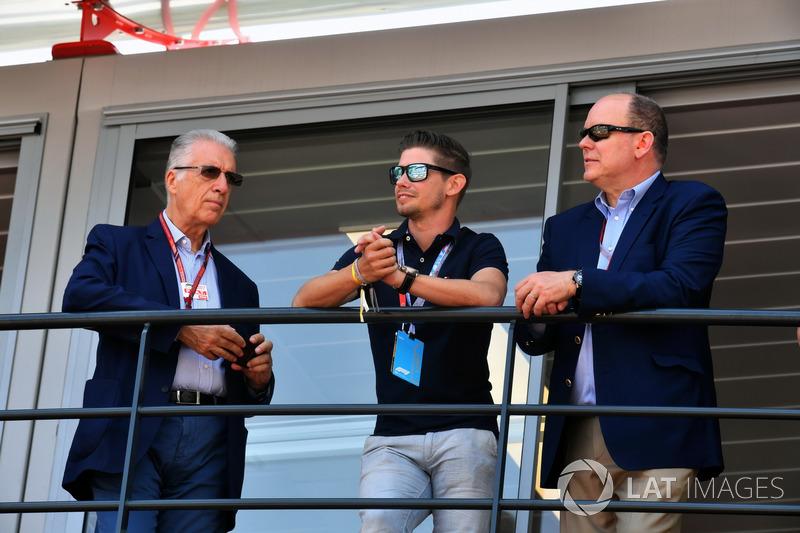 Piero Lardi Ferrari, Ferrari Vice President, Casey Stoner, and HSH Prince Albert of Monaco
