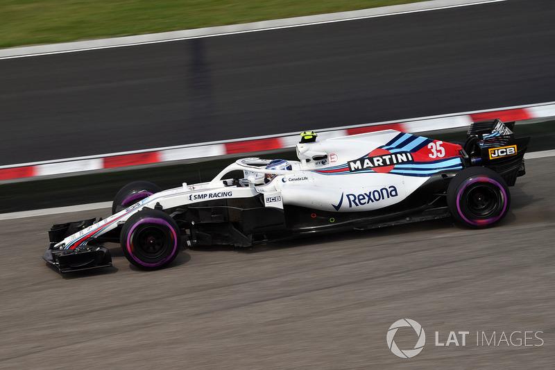 Sergey Sirotkin, Williams FW41 runs wide