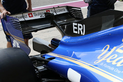 Sauber C36 without a fin