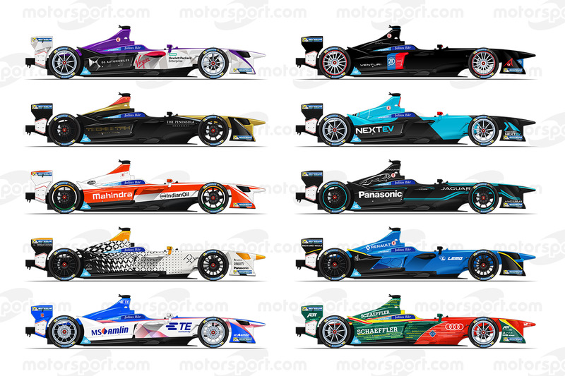 Los autos de la temporada 3 de Fórmula E
