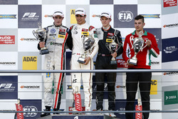 Podium: Race winner Lance Stroll, Prema Powerteam Dallara F312 - Mercedes-Benz; second place Joel Eriksson, Motopark Dallara F312 - Volkswagen; third Callum Ilott, Van Amersfoort Racing Dallara F312 - Mercedes-Benz.