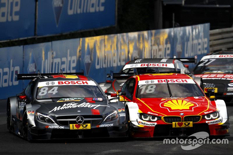 Maximilian Götz, Mercedes-AMG Team HWA, Mercedes-AMG C63 DTM ve Augusto Farfus, BMW Team MTEK, BMW M4 DTM