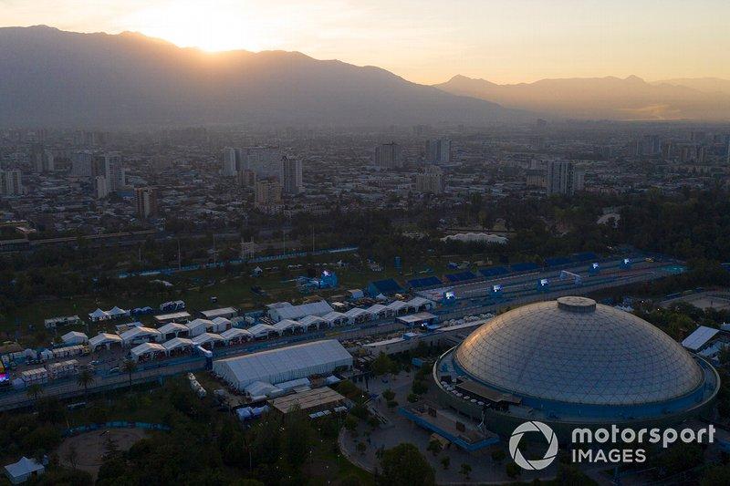 Vista aerea del circuito di Santiago