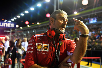 Maurizio Arrivabene, Ferrari Team Principal on the grid